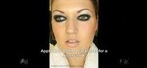"Create a ""panda eyes"" coutoure makeup look"