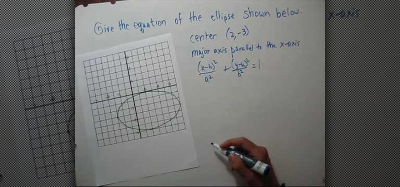 How To Find The Equation Of An Ellipse Given A Graph Math