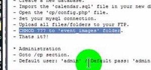 Upload a PHP/MySQL calendar script