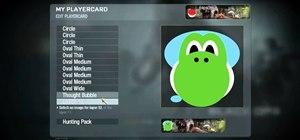 Create a custom Yoshi playercard emblem in Call of Duty: Black Ops