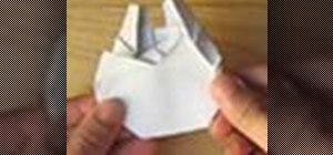 Fold an origami Millenium Falcon