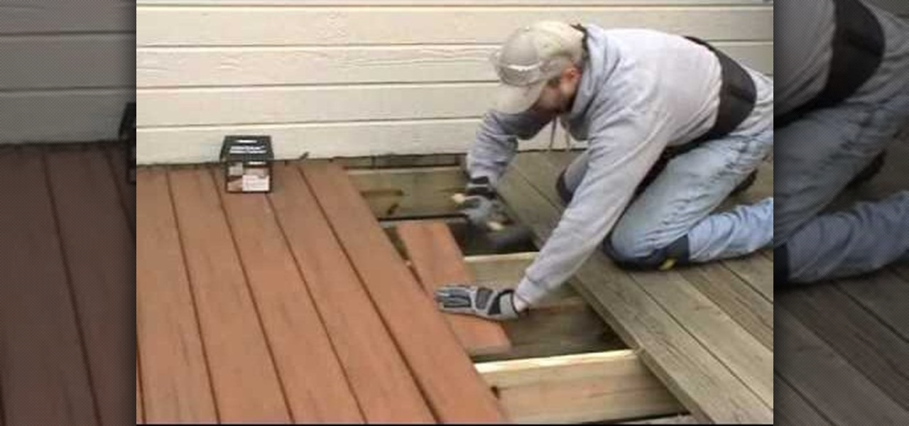 How to replace worn out wood with composite decking for Building a composite deck