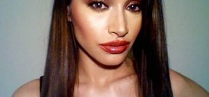 Apply a glam makeup look inspired by Aaliyah