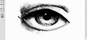 Draw eyes in MS Paint