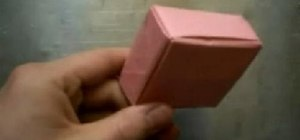 Fold a box from a square sheet of paper with origami