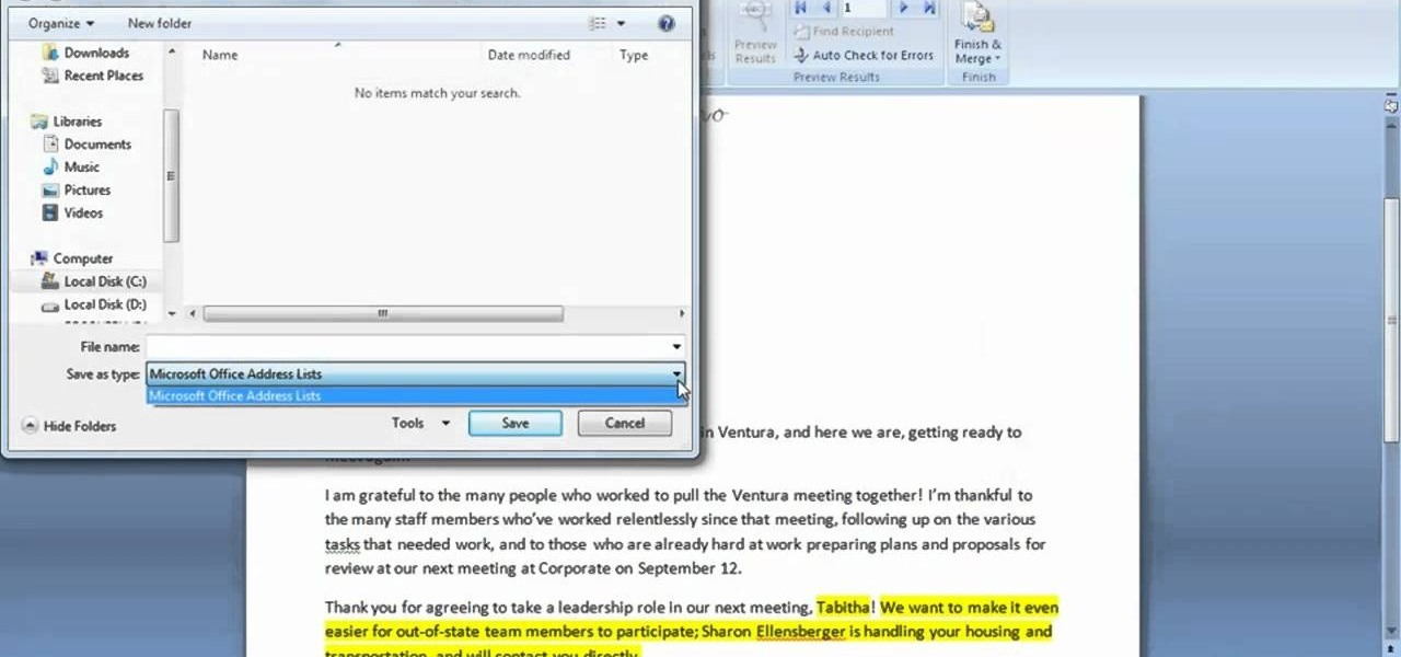 how to write a formal letter using microsoft word 2007