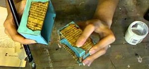 Make a decoupage antique book page as an accent