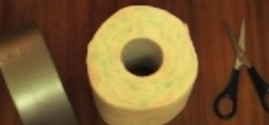 Transform a toilet paper roll into a sling gun