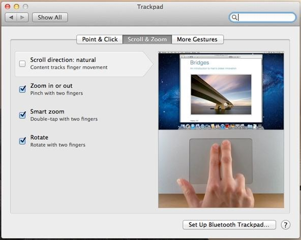 How to Fix OS X Lion's Reverse 2-Finger Scroll So You Can Scroll Normally (Not Backwards)