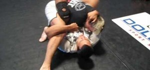 Perform a flower sweep then go into a triangle choke
