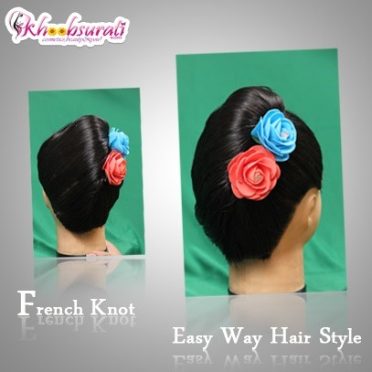 How to Make a French Knot Hairstyle the Easy Way