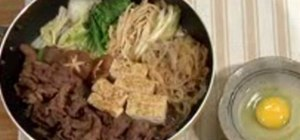Cook sukiyaki