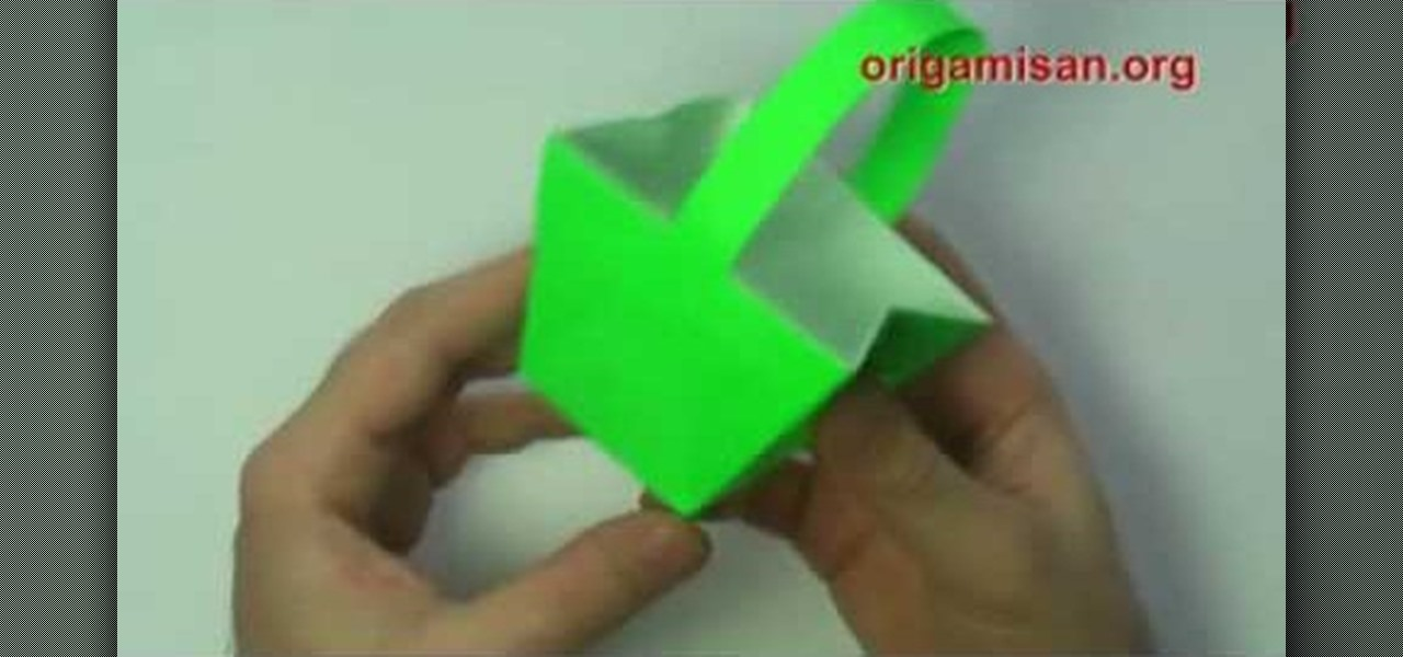 How To Craft A Green Origami Basket For Valentines Day Roses