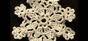 Crochet a left handed eight-point snowflake