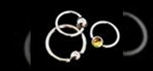 Choose & insert ball closure rings for body piercings