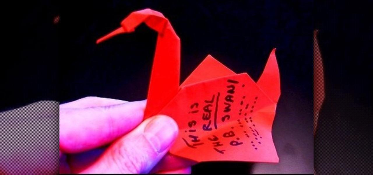 How To Make a Mini 3D Origami Swan - YouTube | 600x1280