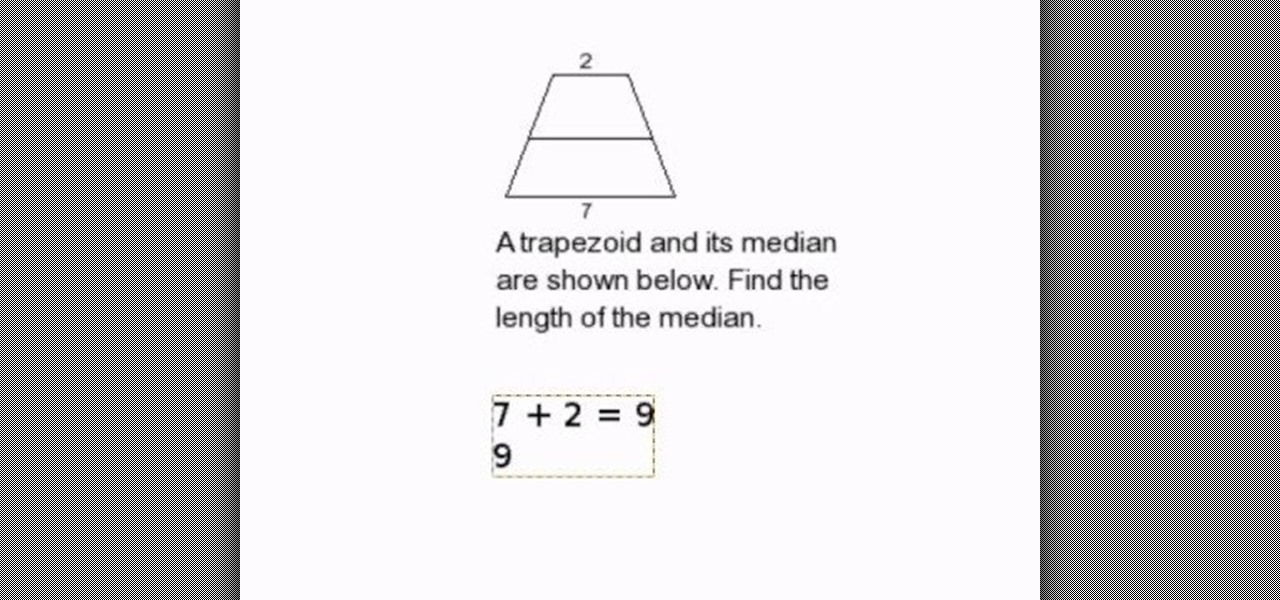 How to find the length of a median in a trapezoid math how to find the length of a median in a trapezoid math wonderhowto ccuart Image collections