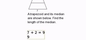 Find the length of a median in a trapezoid