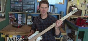 Make a three string guitar out of a cigar box