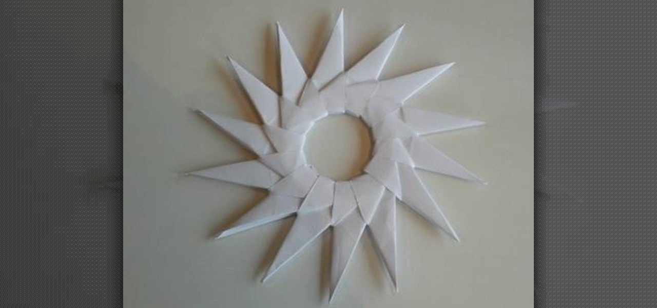 How To Craft An Origami Sun Like Spritzer Circle WonderHowTo