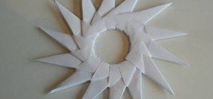 Craft an origami sun-like spritzer circle