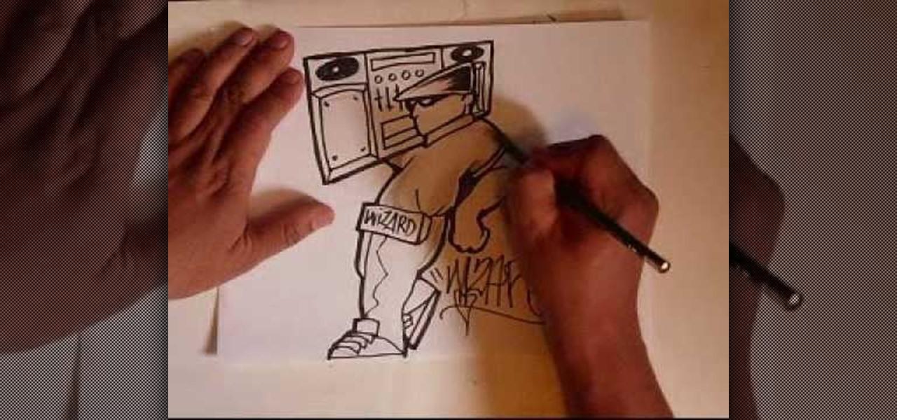 Graffiti Spray Can Characters Drawings Draw a Graffiti Character