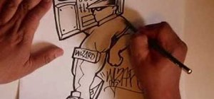 Draw a graffiti character