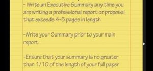 Write an executive summary