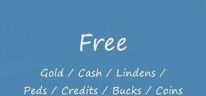 Get free currency, lindens, tokens and peds for your online games