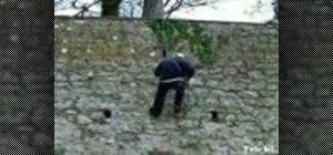 Abseil down a wall with just one rope