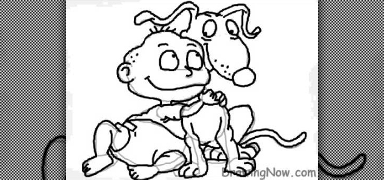 how to draw the character angelica pickles from rugrats