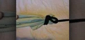 Tie knots to hang an easy hammock