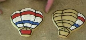 Decorate a hot air balloon cookie five different ways