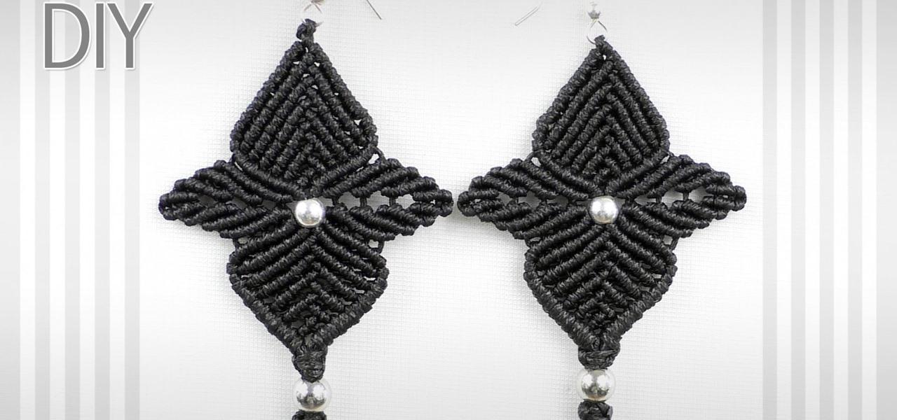 Macrame Flower Star Earrings