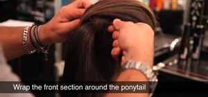 Create a high, secure ponytail you can party in for the holidays