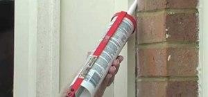 Caulk your home to save money on energy bills