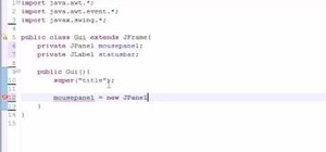 Create mouse events for Java programming