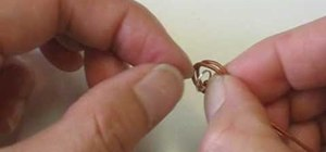 Tie a leather knot end for jewelry