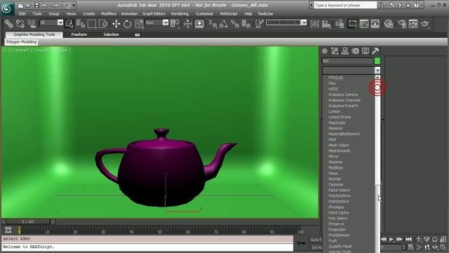 Model and render glass surfaces in 3D Studio Max