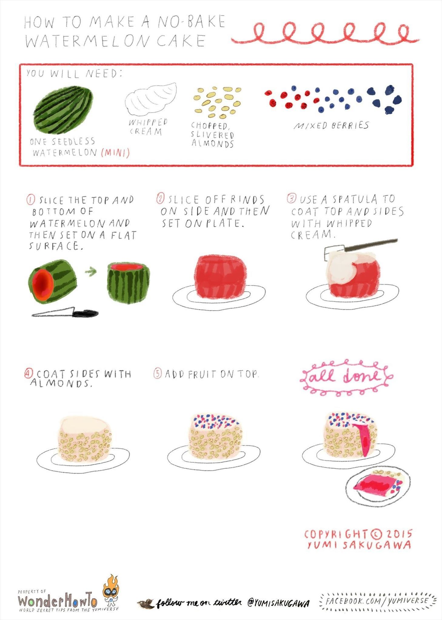 How to Make an Easy No-Bake Watermelon Cake