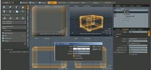 Create a photo studio lighting setup in modo