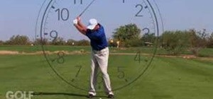 Clock your wedge shots for a better golf swing
