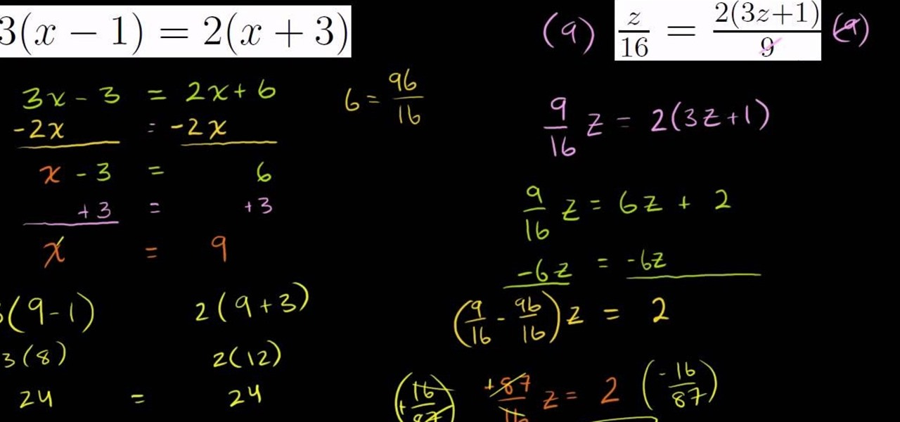 How to Solve algebraic equations with the y mxb format Math – Solving Equations Involving Fractions Worksheet