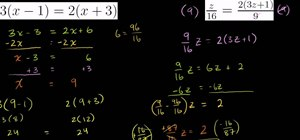 Solve equations with algebraic variables on both sides