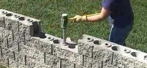 Addstrength to a landscape patio wall