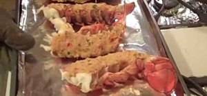 Make king crab cakes stuffed with lobster tails