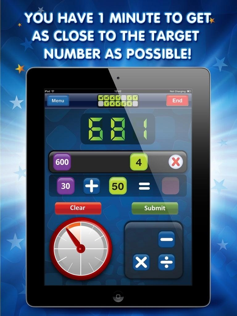 What It Takes – a Words and Number Game for iPad That Blends the Best of Scrabble and Countdown