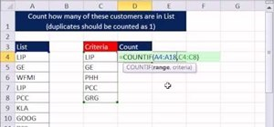 Avoid double-counting duplicates within a list in Microsoft Excel 2010
