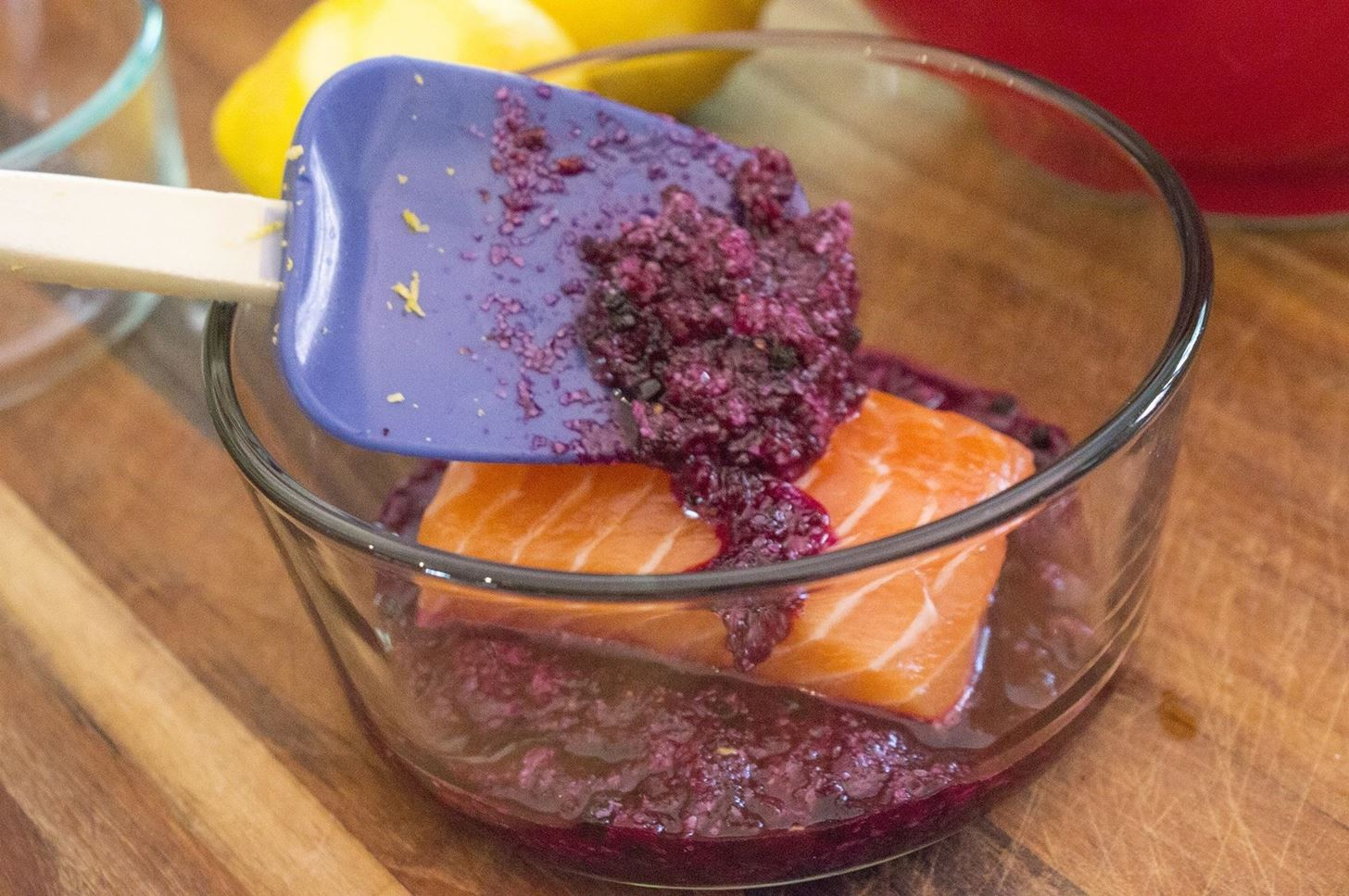 How to cook fish without actually cooking it food hacks daily i recommend trying this excellent beetroot curing recipe which infuses the salmon with a gorgeous purple color ccuart Gallery