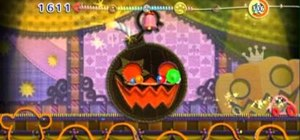 Beat the final boss Squashini in Treat Land on Kirby's Epic  Yarn